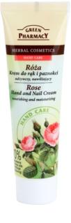 Green Pharmacy Hand Care Rose подхранващ и хидратиращ крем за ръце и нокти
