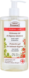 Green Pharmacy Pharma Care Oak Bark Cranberry gel protector para la higiene íntima