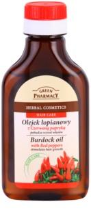 Green Pharmacy Hair Care Red Peppers óleo de bardana para estimular o crescimento do cabelo