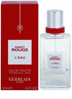 Guerlain Habit Rouge L'Eau eau de toilette pour homme 50 ml