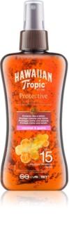 Hawaiian Tropic Protective Waterproef Beschermende Droge Olie voor Bruinen  SPF15