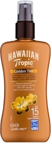 Hawaiian Tropic Golden Tint védő testtej spray formában SPF 15