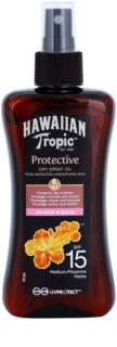 Hawaiian Tropic Protective voděodolný ochranný suchý olej na opalování SPF 15