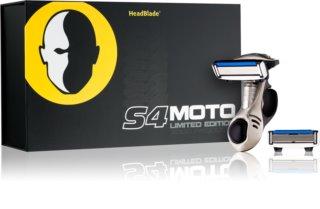 HeadBlade S4 Moto maquinilla de afeitar + recambios de cuchillas 4 uds