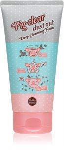 Holika Holika Pig Clear espuma de limpeza ativa para poros dilatados