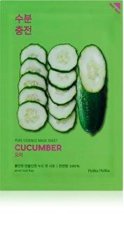Holika Holika Pure Essence Mask Sheet Cucumber plátýnková maska se zklidňujícím účinkem pro citlivou pleť se sklonem ke zčervenání