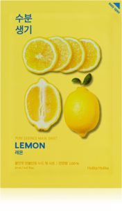 Holika Holika Pure Essence Mask Sheet Lemon plátýnková maska se zjemňujícím a osvěžujícím účinkem s vitaminem C