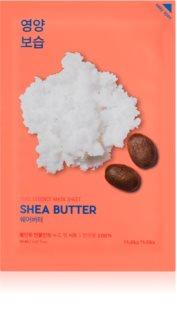Holika Holika Pure Essence Mask Sheet Shea Butter maska iz platna z visokim vlažilnim in hranilnim učinkom