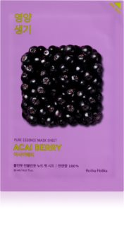 Holika Holika Pure Essence Mask Sheet Acai Berry mască textilă exfoliantă