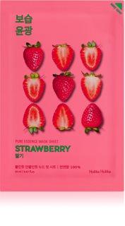 Holika Holika Pure Essence Mask Sheet Strawberry rozjasňující plátýnková maska pro jednotný tón pleti