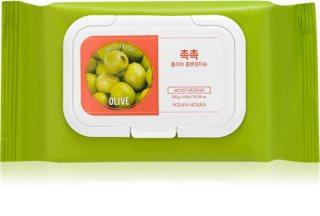 Holika Holika Daily Fresh Olive серветки для зняття водостійкого  макіяжу