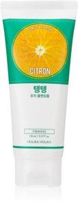 Holika Holika Daily Fresh Citron espuma de limpeza exfoliante para pele oleosa e mista
