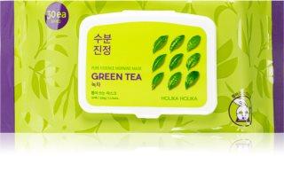 Holika Holika Pure Essence Mask Sheet Green Tea máscara refrescante para aplicar de manhã com extrato de chá verde
