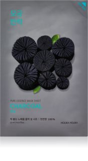 Holika Holika Pure Essence Mask Sheet Charcoal cleansing face sheet mask with activated charcoal
