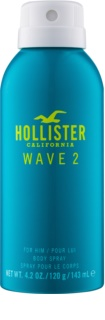 Hollister Wave 2 spray corporal para hombre 143 ml