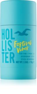 Hollister Festival Vibes dezodorant w sztyfcie dla mężczyzn 75 g