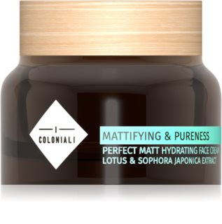 I Coloniali Mattifying & Pureness creme matificante com efeito hidratante para pele normal a mista