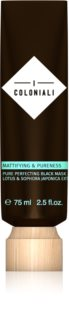 I Coloniali Mattifying & Pureness Cleansing Black Mask For Immediate Brightening