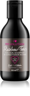 I Heart Revolution Rainbow Shots shampoo per accelerare la scomparsa del colore per capelli
