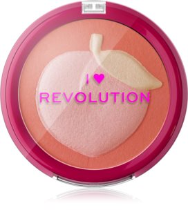 I Heart Revolution Fruity Blusher Peach blush compacto
