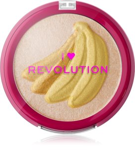 I Heart Revolution Fruity Highlighter Banana enlumineur poudre compact
