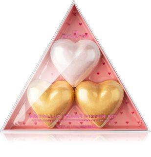 I Heart Revolution Fizzer Kit Mettalic Heart pastillas efervescentes con color para el baño