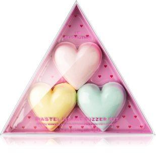 I Heart Revolution Fizzer Kit Pastel Heart tablettes colorées pétillantes pour le bain pour femme