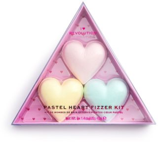 I Heart Revolution Fizzer Kit Pastel Heart цветни разтворими таблети за вана