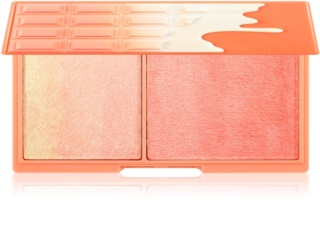 I Heart Revolution Mini Chocolate Peach And Glow Palette mit aufhellendem Puder