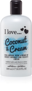 I love... Coconut & Cream Shower and Bath Gel Oil