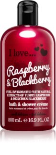 I love... Raspberry & Blackberry krem pod prysznic i do kąpieli