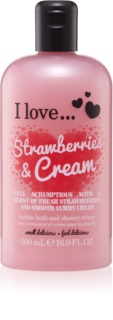 I love... Strawberries & Cream crème bain et douche