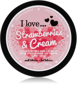 I love... Strawberries & Cream maslo za telo