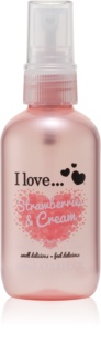 I love... Strawberries & Cream spray rafraîchissant corps