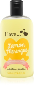 I love... Lemon Meringue krema za prhanje in kopanje