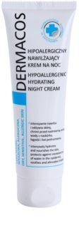 Ideepharm Dermacos Dry Sensitive Allergic Skin crema de noche hipoalergénica con efecto humectante