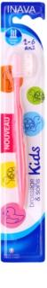 Inava Kids zubná kefka pre deti s cestovným krytom