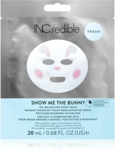 INC.redible Show Me the Bunny máscara facial para pele oleosa e mista