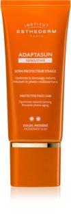 Institut Esthederm Adaptasun Sensitive crème protectrice visage moyenne protection solaire