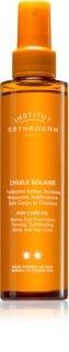 Institut Esthederm Sun Care olje za sončenje za telo in lase s srednjo UV zaščito