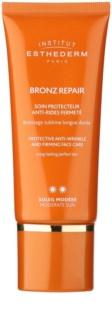 Institut Esthederm Bronz Repair creme facial reafirmante antirrugas com proteção UV média
