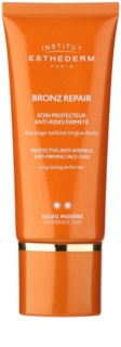 Institut Esthederm Bronz Repair crema facial reafirmante antiarrugas de protección UV media