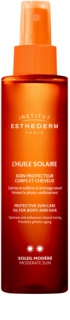 Institut Esthederm Sun Care olejek do opalania do ciała i włosów ze średnią ochroną UV