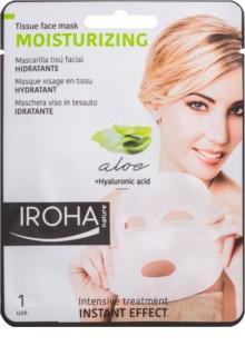 Iroha Moisturizing Aloe mască textilă cu aloe vera și acid hialuronic
