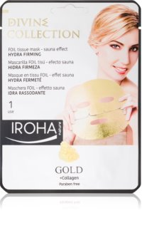 Iroha Divine Collection Gold & Collagen ενυδατική και θρεπτική μάσκα με ανθεκτικά  αποτελέσματα