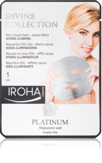 Iroha Divine Collection Platinum & Hyaluronic Acid mascarilla hidratante con efecto iluminador