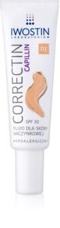 Iwostin Capillin Correctin fluido para fortalecer a longo prazo a pele propensa a vermelhidão SPF 30