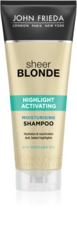 John Frieda Sheer Blonde Highlight Activating shampoing hydratant pour cheveux blonds