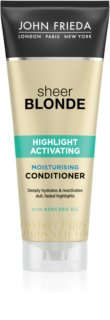 John Frieda Sheer Blonde Highlight Activating feuchtigkeitsspendender Conditioner für blonde Haare