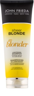 John Frieda Sheer Blonde Go Blonder șampon decolorant pentru par blond